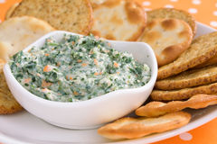 Spinach Dip Royalty Free Stock Photos
