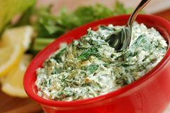 Spinach  Dip Royalty Free Stock Photography