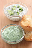 Spinach dip with bread Stock Image