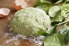 Spinach dough Royalty Free Stock Image