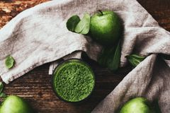 Spinach drink Stock Photos