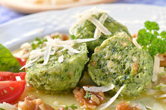Spinach dumplings Royalty Free Stock Images