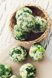 Spinach dumplings Royalty Free Stock Photography