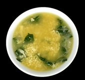 Spinach Egg Drop Soup Royalty Free Stock Photo