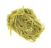 Spinach egg noodle pasta Royalty Free Stock Image