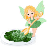 Spinach Fairy Royalty Free Stock Photo