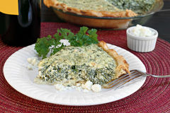 Spinach and feta cheese pie Stock Images