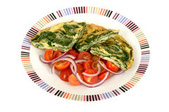 Spinach and Feta Frittata Royalty Free Stock Photos