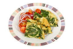 Spinach and Feta Frittata Royalty Free Stock Photo