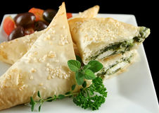 Spinach And Feta Parcels Stock Image