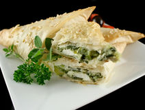Spinach And Feta Parcels Stock Photography