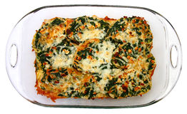 Spinach Feta Strata Stock Photography