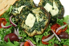 Spinach And Fetta Frittatas Stock Photos