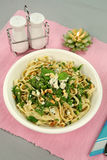 Spinach Fettucini Stock Images