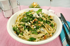 Spinach Fettucini Royalty Free Stock Photography