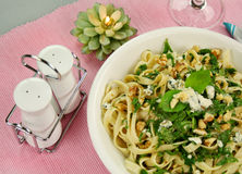 Spinach Fettucini Royalty Free Stock Images