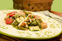 Spinach Fettucini with chicken Royalty Free Stock Photography