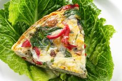 Spinach Fritatta Stock Photography