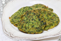 Spinach fritters Stock Images