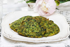 Spinach fritters Stock Image
