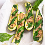 Spinach fullly courgette vegetarian Royalty Free Stock Photography