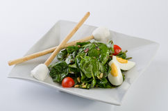 Spinach & goat cheese salad Stock Images