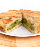 Spinach and green beans pie Stock Image