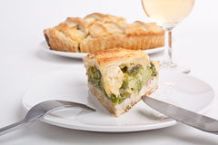 Spinach and green beans pie Stock Photo