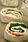 Spinach Ham Wrap with Ranch Stock Photography
