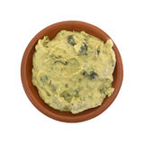 Spinach hommus in a small bowl Royalty Free Stock Photography