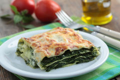 Spinach lasagna Royalty Free Stock Photo