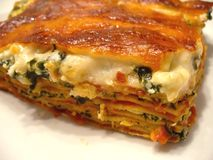 Spinach Lasagna Stock Photo