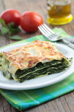 Spinach lasagna Stock Images