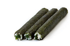 Spinach Maki Sushi Royalty Free Stock Images