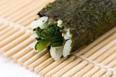 Spinach Maki Sushi Stock Photos