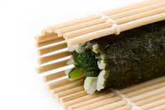 Spinach Maki Sushi Royalty Free Stock Photos