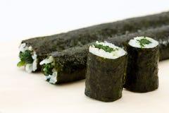 Spinach Maki Sushi Stock Image