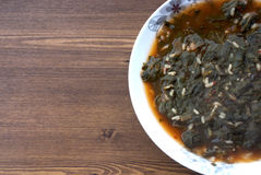 Spinach meal Stock Images