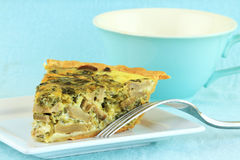 Spinach Mushroom Quiche Royalty Free Stock Photography
