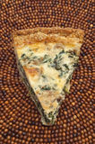 Spinach, Mushroom and Shallot Quiche Royalty Free Stock Photo