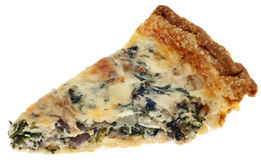 Spinach, Mushroom and Shallot Quiche Stock Image