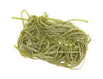 Spinach Noodles Overhead View Royalty Free Stock Photo