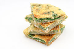 Spinach omelet Royalty Free Stock Photo