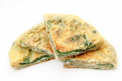 Spinach omelet Royalty Free Stock Photography