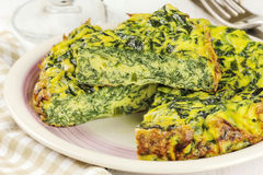Spinach omelette Stock Image