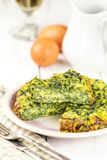 Spinach omelette Stock Images