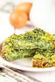 Spinach omelette Stock Photography
