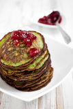 Spinach pancakes Stock Photo