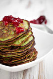 Spinach pancakes Royalty Free Stock Photo