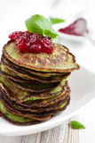 Spinach pancakes Stock Image